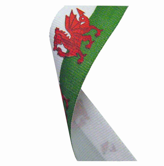 Picture of Flag Neck Ribbon Wales (red/green/white) (7/8 x 32 Inch (22x810mm))