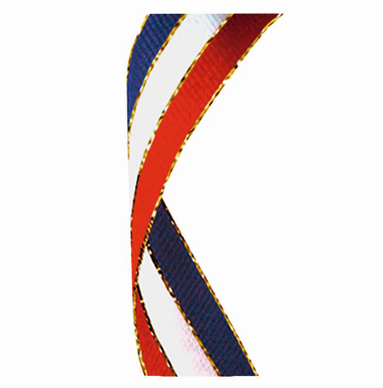 Picture of Glitter Ribbon Red White & Blue (red/white/blue Glitter) (7/8 x 32 Inch (22x810mm))