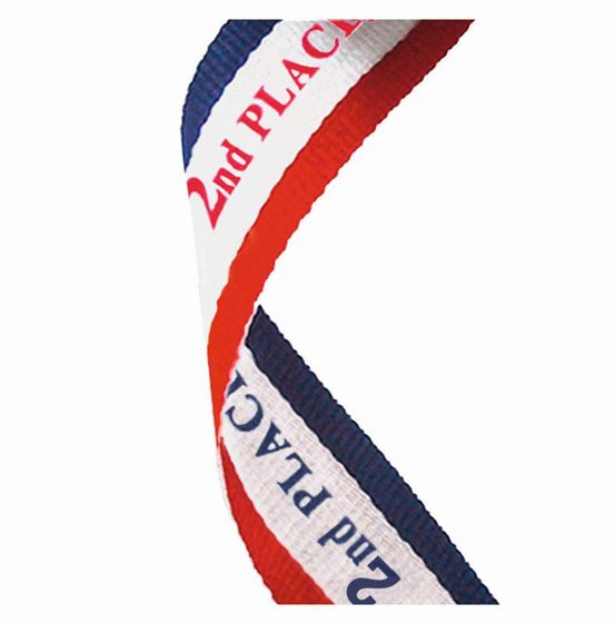 Picture of Medal Ribbon 2nd Place (red/white/blue) (7/8 x 32 Inch (22x810mm))