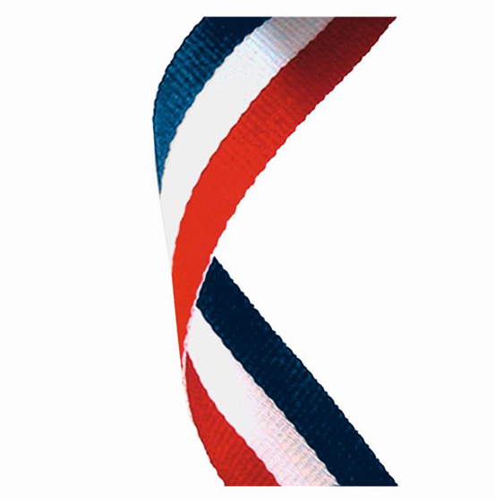 Picture of Medal Ribbon Red White & Blue (red/white/blue) (7/8 x 32 Inch (22x810mm))