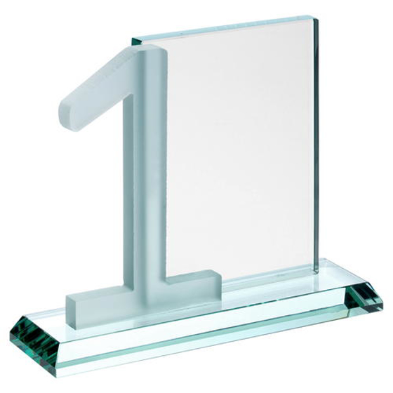 Picture of Jade Glass Rectangle With Frosted No.1 (10mm Thick) - 6in (152mm)