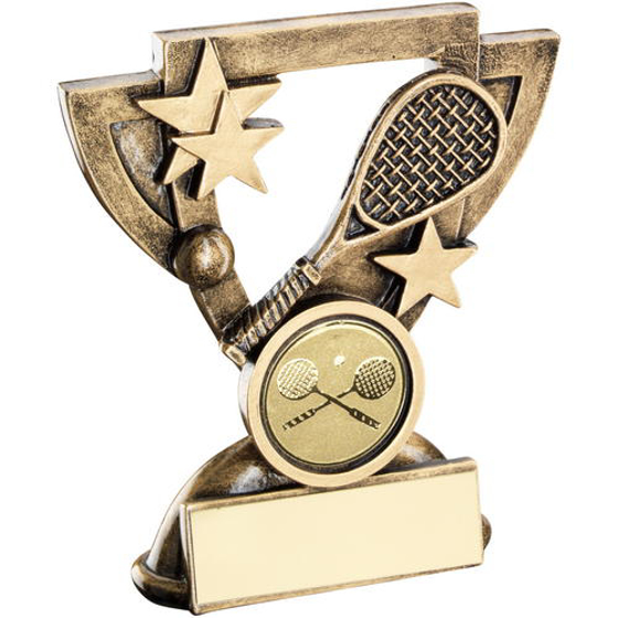 Picture of Brz/gold Squash Mini Cup Trophy - (1in Centre) 4.25in (108mm)