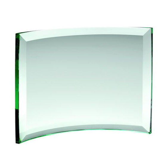 Picture of Curved Glass Rectangle (10mm Thick) - 6 x 8.25in (152 X 210mm)