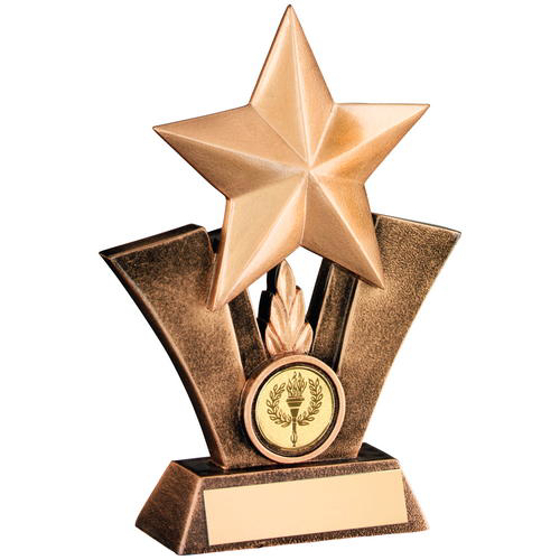 Picture of Brz/gold Generic Star Resin Trophy - (1in Centre) 5in (127mm)