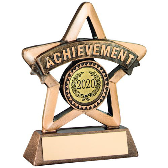 Picture of Brz/gold Resin Achievement Mini Star Trophy - (1in Centre) 4.25in (108mm)