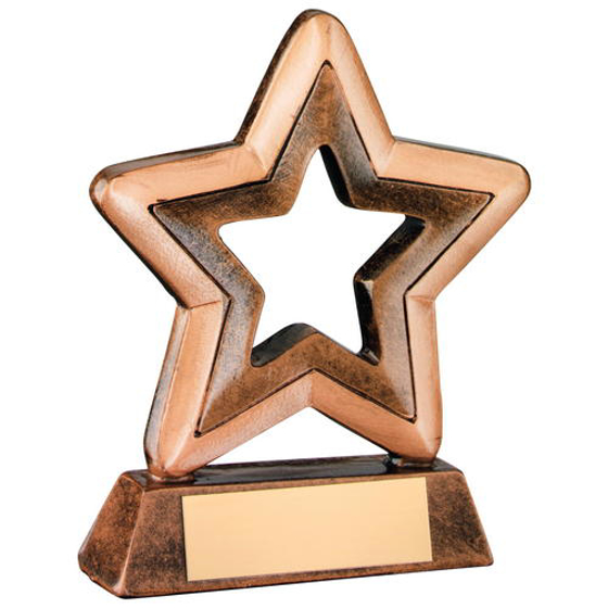 Picture of Brz/gold Resin Generic Mini Star Trophy -       4.25in (108mm)