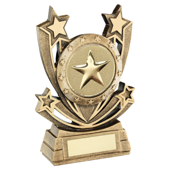 Picture of Brz/gold Shooting Star Series Generic Trophy (2in Centre) - 5in (127mm)