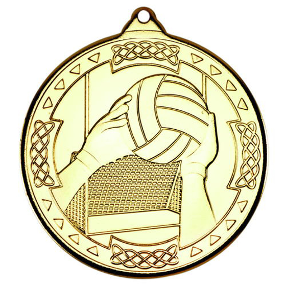 Picture of Gaelic Football Celtic Medal - Gold 2in (50mm)