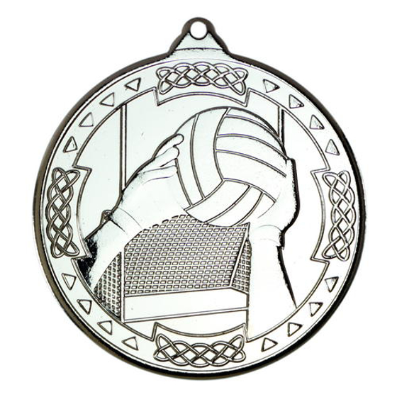 Picture of Gaelic Football Celtic Medal - Silver 2in (50mm)