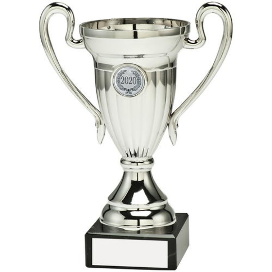 Picture of Silver Plastic Lined Cup Trophy - (1in Centre)  4.75in (121mm)