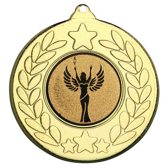 Picture of Stars And Wreath Medal (1in Centre) - Gold 2in (50mm)