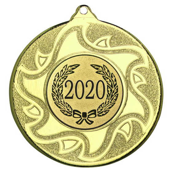 Picture of Sunshine Medal (1in Centre) - Gold 2in (50mm)