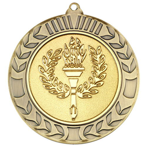 Picture of Wreath Medal (2in Centre) - Antique Gold 2.75in (70mm)