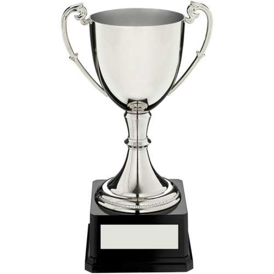 Picture of Nickel Plated Cup On Heavyweight Base Trophy - 14.75in (375mm)