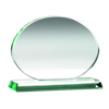 Picture of Jade Glass Oval (10mm Thick) - 6.75 x 8.75in (171mm X 222mm)