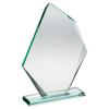 Picture of Jade Glass Offset Diamond Plaque (10mm Thick) - 7.75in (197mm)