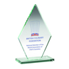 Picture of Jade Glass Tall Diamond Plaque (10mm Thick) - 7in (178mm)