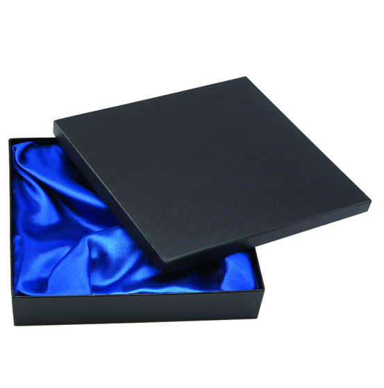 Picture of Silk Lined Presentation Box  (black) 10 3/8 x 10 3/8 x 1 3/8 Inch (265 x 265 x 35mm)