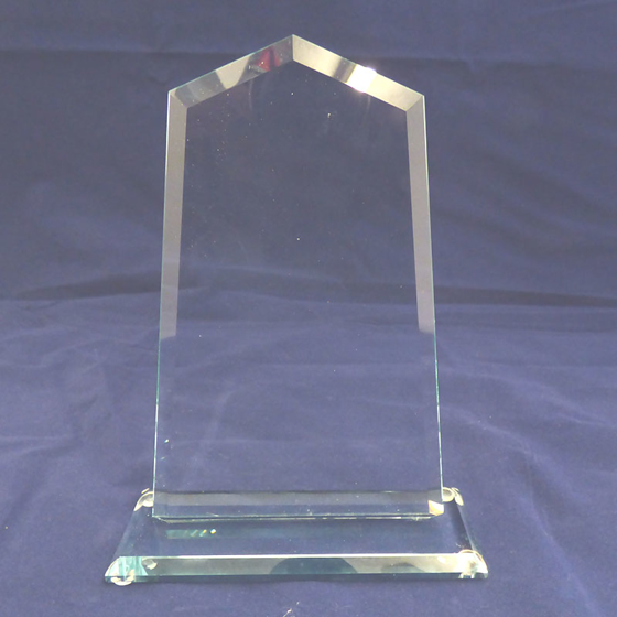 Picture of Square arched shaped Glass Award. 175mm