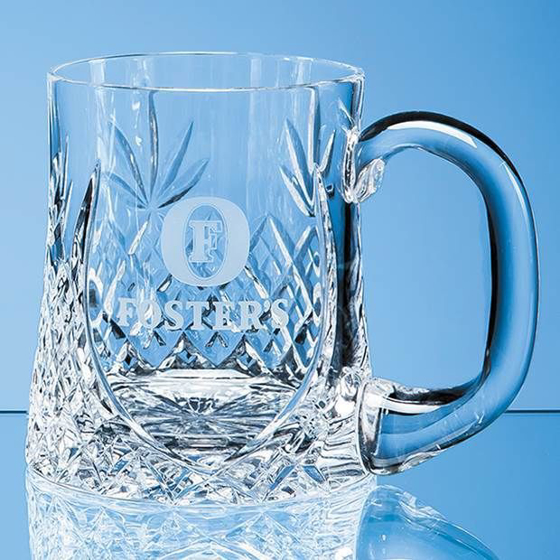 Picture of Lead Crystal Sloped Panel Tankard 0.425ltr