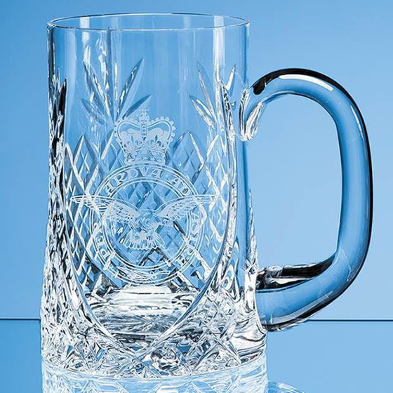 Picture of Lead Crystal Sloped Panel Tankard 0.595ltr