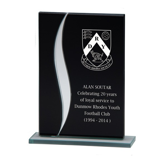 Picture of Spirit Mirror Glass Award Black & Silver 125mm