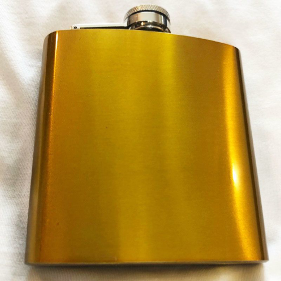 Picture of 6oz Hip Flask Antique Gold