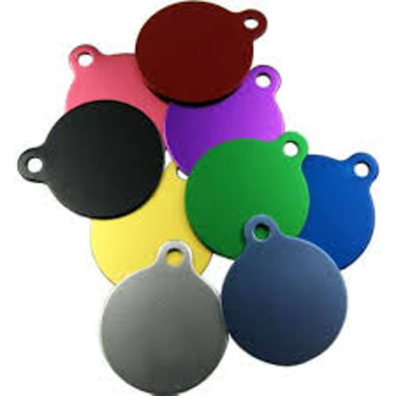 Picture of Pet Tag Circular with Tab 38mm