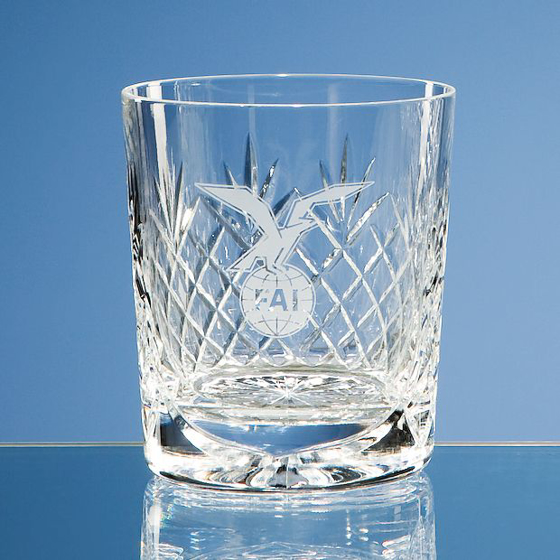 Picture of Durham Lead Crystal Panel Whisky Tumbler
