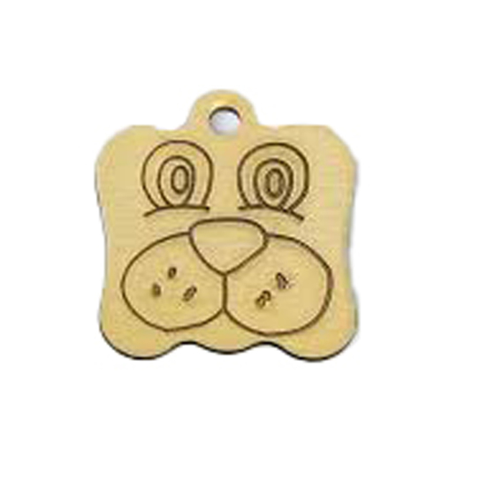Picture of Dog Shape Pet Tag 22mm