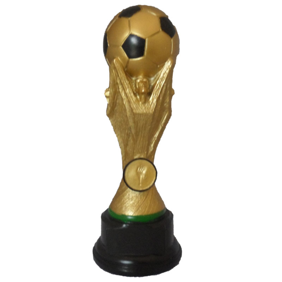 Picture of Gold & Black Football on World Cup Type Pedestal 220mm