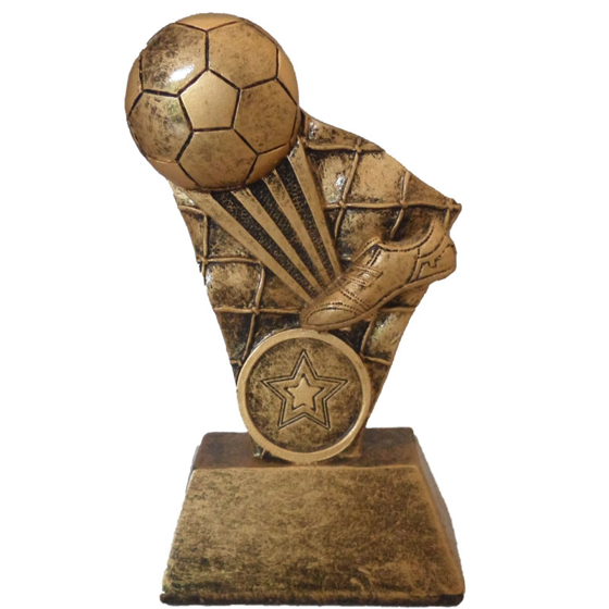 Picture of Football Boot and Ball with Net Pedestal 135mm