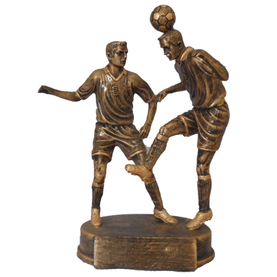 Picture of Two Footballers Heading Ball Award 170mm