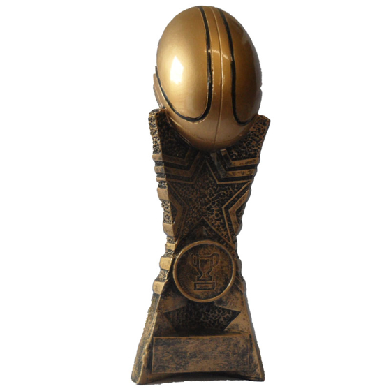 Picture of Rugby Ball on Pedestal 190mm