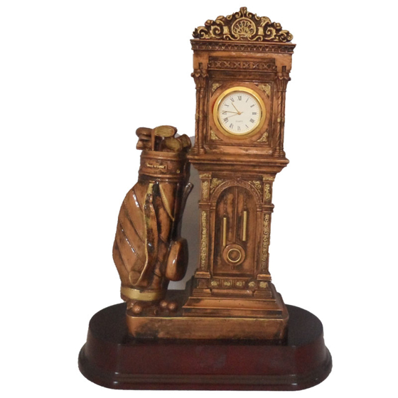 Picture of Golfers Grandfather Clock 260mm