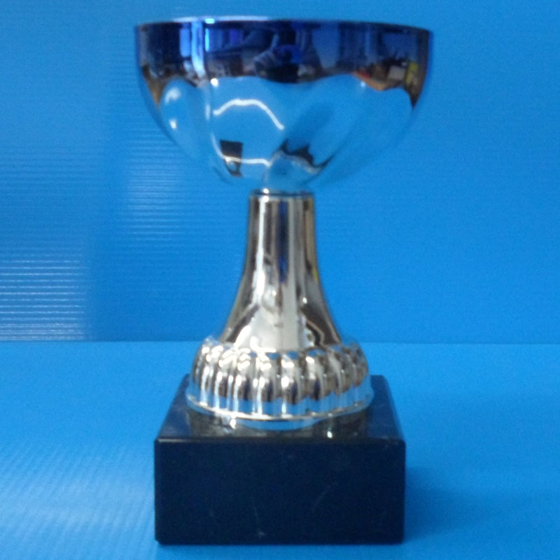 Picture of Blue edged scalloped mini cup 130mm