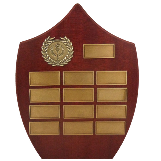 Picture of Perpetual Shield with Antique Brass laurel 210mm