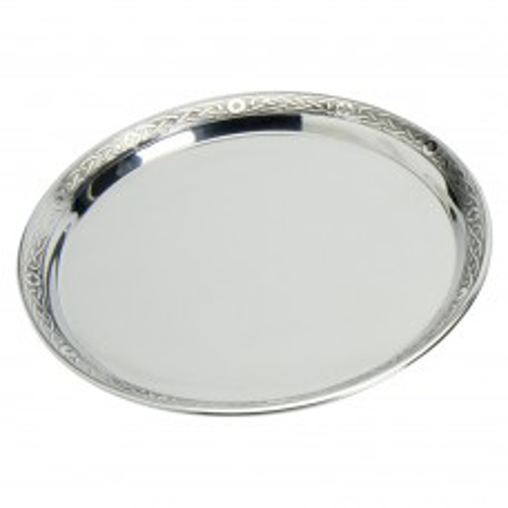 Picture of Pewter tray with celtic rim 7""