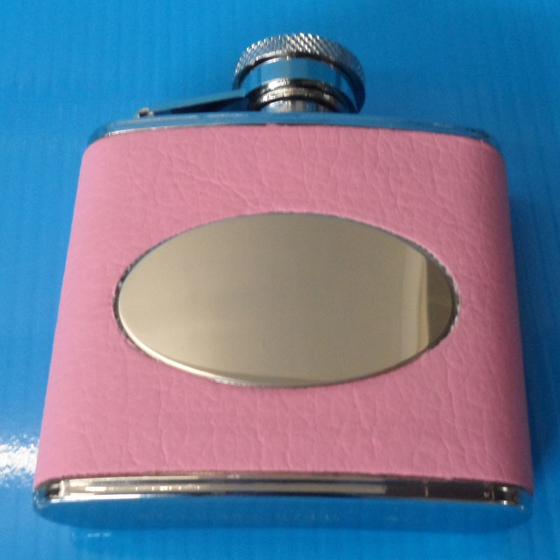 Picture of 2oz Pink Hip Flask