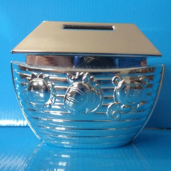 Picture of Silver Noah's Arc money box 90mm