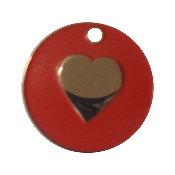 Picture of Enamelled Heart Pet Tags 25 mm