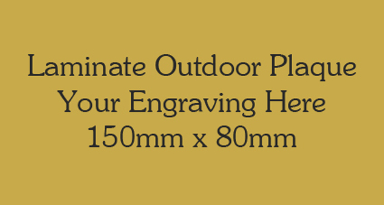 Picture of Gold Colour Outdoor Laminate Plaque 150mm x 80mm