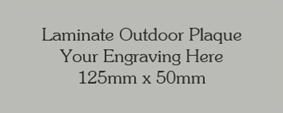 Picture of Silver/grey Colour Outdoor Laminate Plaque 125mm x 50mm