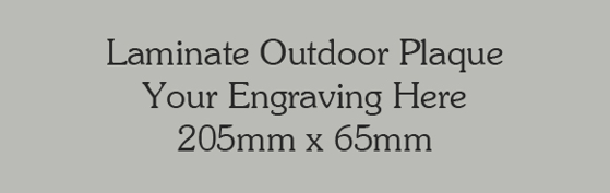 Picture of Silver/grey Colour Outdoor Laminate Plaque 150mm x 80mm