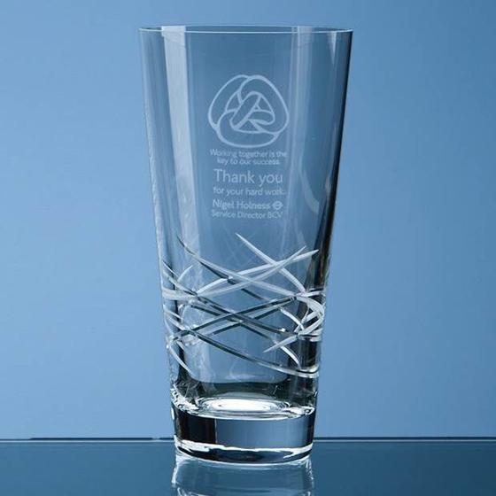 Picture of Tiesto Cut Conical Vase 20.5cm